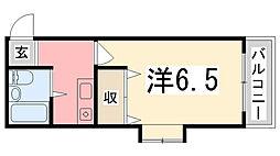 シエスタ姫路[309号室]の間取り