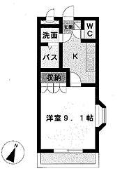 コーポ彩舞蘭[107号室]の間取り