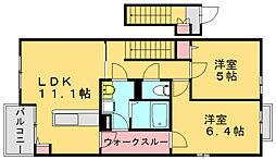 セレーナユー[2階]の間取り