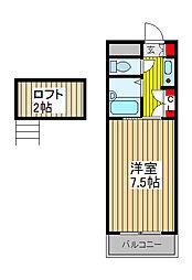 ファミーユ・フォーレ[2階]の間取り