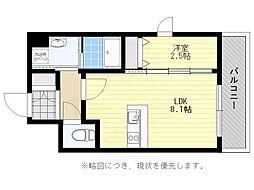 福岡市地下鉄空港線 大濠公園駅 徒歩7分の賃貸マンション 6階1LDKの間取り