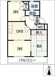 ヴェルデジャルディーノA棟[2階]の間取り