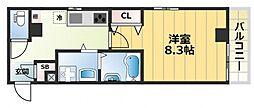 エムズコート小阪[6階]の間取り