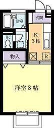 ヴィラフォレスト(木田余東台)[0206号室]の間取り