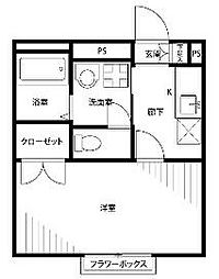 埼玉県吉川市木売2丁目の賃貸アパートの間取り
