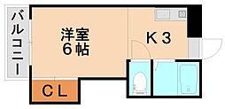 パシフィック白木原[2階]の間取り