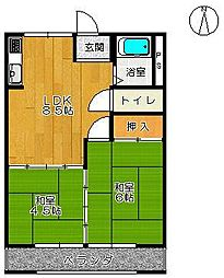 渋谷コーポ[206号室]の間取り