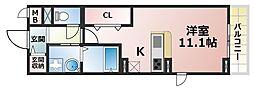 ROOMs六甲[2階]の間取り