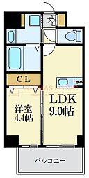 福岡市地下鉄七隈線 薬院大通駅 徒歩7分の賃貸マンション 5階1LDKの間取り