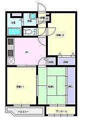 ユーミーマンションフェニックス[3階]の間取り