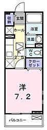 広島県福山市東町1丁目の賃貸アパートの間取り
