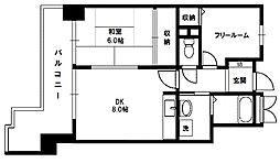ライオンズマンション新大阪第6[4階]の間取り