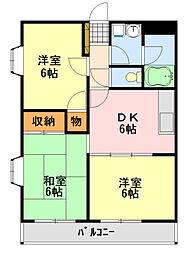 カンユウINARI[213号室]の間取り
