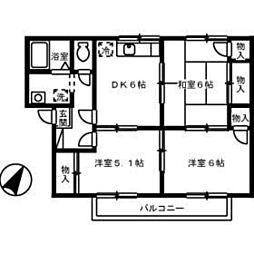 プレジール品川 A棟[2階]の間取り