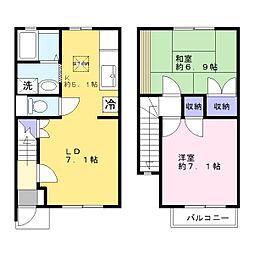 [タウンハウス] 神奈川県横浜市港南区日野南5丁目 の賃貸【/】の間取り