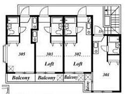 アスカ2−A[3階]の間取り