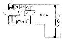 プチフルール嵐山[202号室号室]の間取り