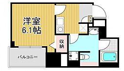 フォレステージュ北堀江[5階]の間取り