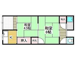 [テラスハウス] 大阪府堺市北区船堂町1丁 の賃貸【/】の間取り