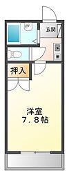 リッチライフ甲子園VIII[2階]の間取り