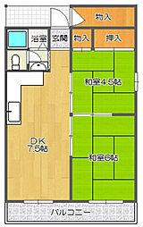甲南第3サンコーポラス[2階]の間取り
