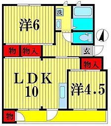 第2泉マンション[3階]の間取り
