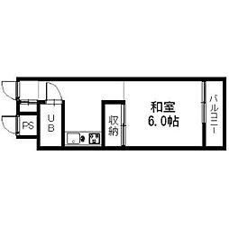 香川県高松市錦町1丁目の賃貸マンションの間取り