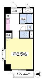 仙台市営南北線 泉中央駅 徒歩4分の賃貸マンション 2階ワンルームの間取り