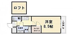 大阪府泉大津市旭町の賃貸アパートの間取り