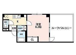 福岡県北九州市小倉北区片野1丁目の賃貸アパートの間取り