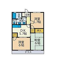 プライムタウン湘南II[1階]の間取り