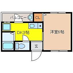 増田マンション[302号室]の間取り
