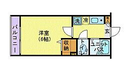 JR総武線 阿佐ヶ谷駅 徒歩9分の賃貸アパート 2階1Kの間取り