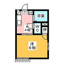 エクセル高木[2階]の間取り