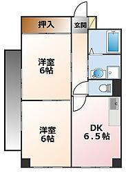 グレース喜多[2階]の間取り