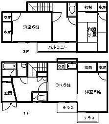 [テラスハウス] 神奈川県横浜市青葉区美しが丘4丁目 の賃貸【/】の間取り