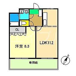 ベイサイドパレス横浜[1階]の間取り