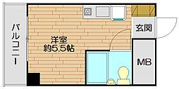 ラ・レジダンス・ド・エリール[7階]の間取り