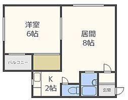 スタジオ108裏参道[2階]の間取り
