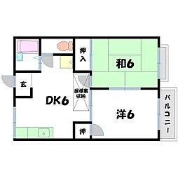 コーポ江頭[2階]の間取り