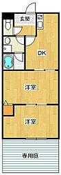 カマールサリ[103号室]の間取り