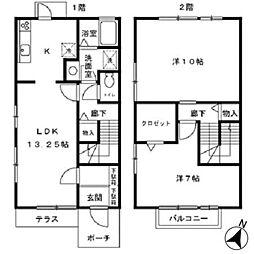 [テラスハウス] 埼玉県さいたま市見沼区春岡 の賃貸【/】の間取り