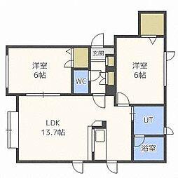フォーレスト45III[2階]の間取り