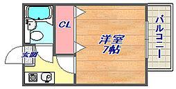 兵庫県神戸市灘区新在家南町3丁目の賃貸マンションの間取り