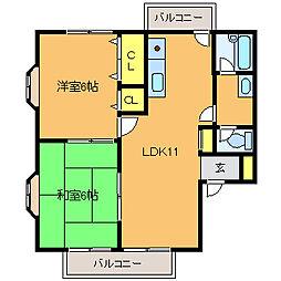 アパルトメントギザ[1階]の間取り