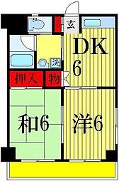 エミュールマンション[4階]の間取り