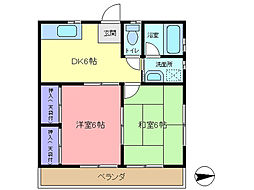 白石アパート[201号室]の間取り