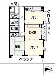 ファミーユDAISHIN[4階]の間取り