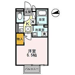 セジュール鶴山[205号室]の間取り