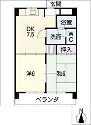 泉ハイツ−45[1階]の間取り